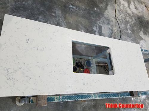 Grey Veins White Quartz Countertop