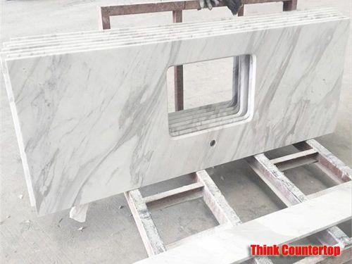 White Volakas Marble Countertop