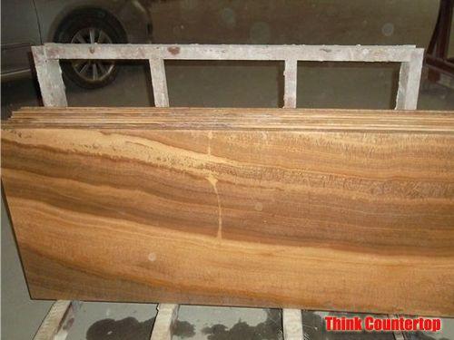 Yellow Wood Vein Marble Countertop