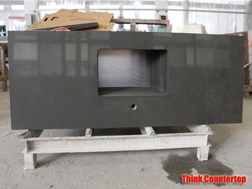 Prefab Charcoal Grey Quartz Countertops