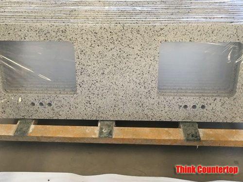 Beige Quartz Stone Kitchen Countertops
