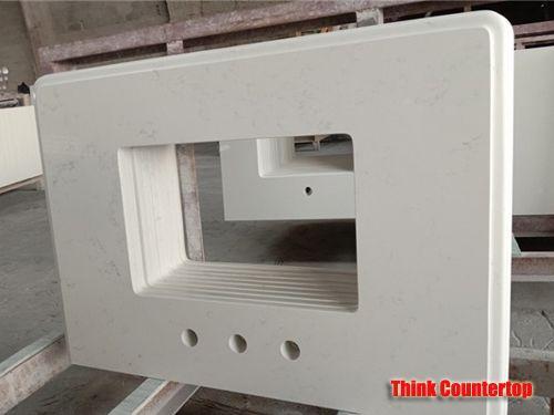 Carrara White Quartz Table Top