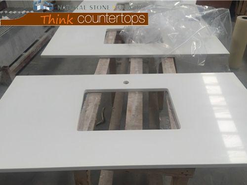 Pure White Quartz Stone Worktops