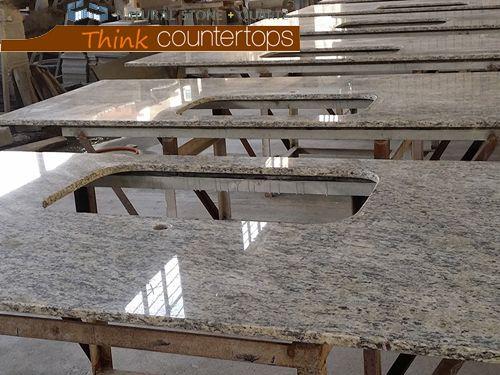 Brazilian Giallo Santa Cecilia Granite Countertops