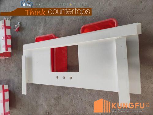 Super White Quartz Kitchen Countertops