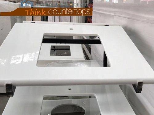 Super White Nano Glass Vanity Top